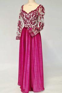 3Pinkes Kleid Oberteil mit Spitze und wahlweise Ärmel