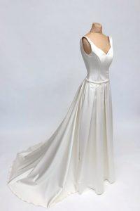 22glattes Kleid